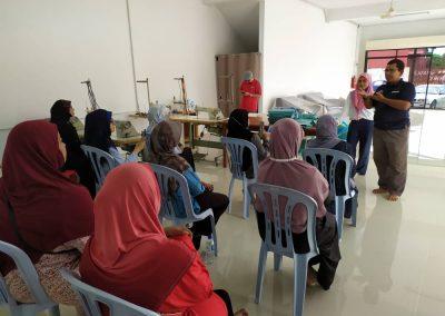 projek jahitan ppe MERCY Malaysia 1