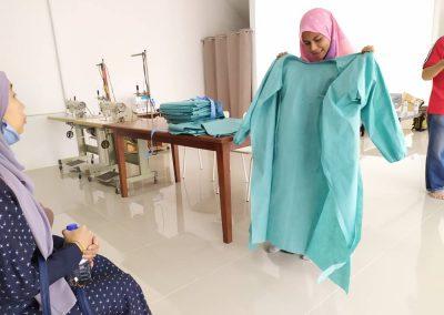 projek jahitan ppe MERCY Malaysia 2